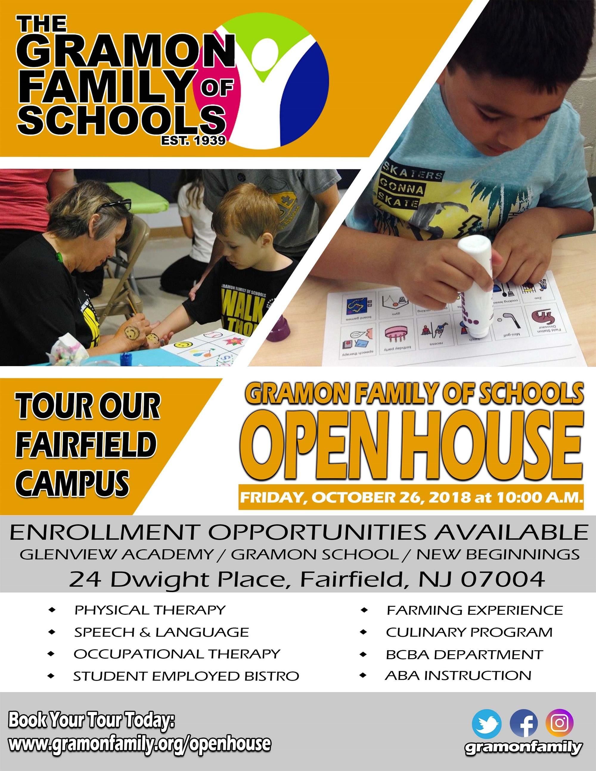 Fall Open House - Register Here!